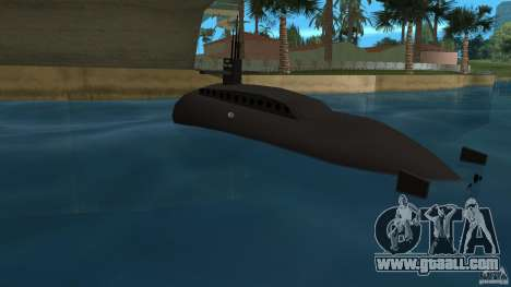 Vice City Submarine without face for GTA Vice City back left view