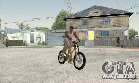 Downhill Bike for GTA San Andreas left view