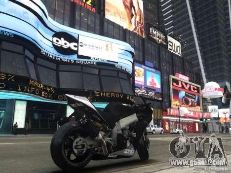 Aprilia RSV-4 Black Edition for GTA 4 back left view