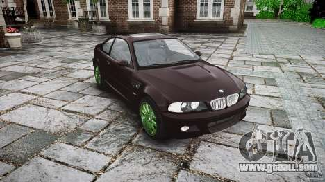 BMW M3 e46 2005 for GTA 4 back view