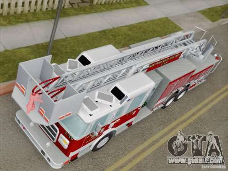 Pierce Aerials Platform. SFFD Ladder 15 for GTA San Andreas inner view