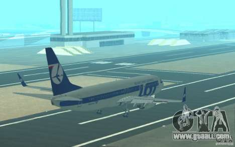 Boeing 737 LOT Polish Airlines for GTA San Andreas interior