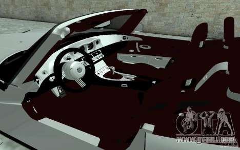 BMW Z8 for GTA San Andreas inner view