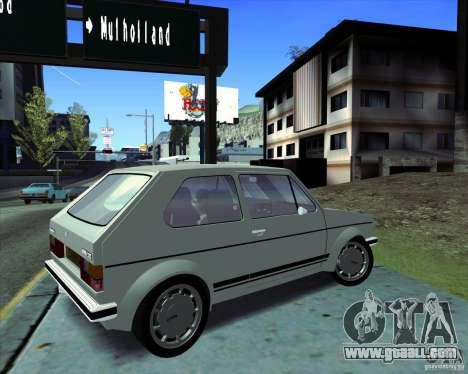 Volkswagen Golf MK 1 GTI for GTA San Andreas back left view
