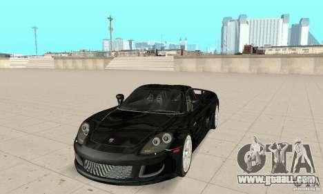 Porsche Carrera GT stock for GTA San Andreas