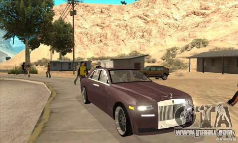 Rolls-Royce Ghost 2010 for GTA San Andreas back view