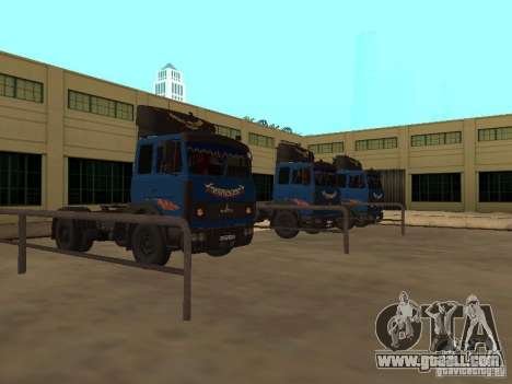 MAZ 5432 YAMZ-238b 4 x 2 for GTA San Andreas left view