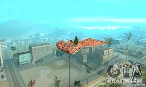 Flying Carpet v.1.1 for GTA San Andreas back left view