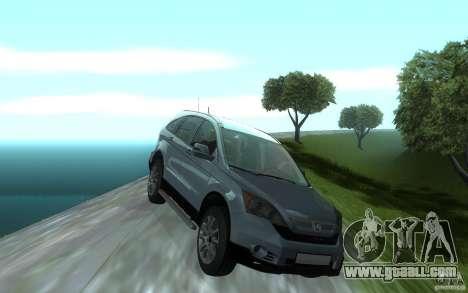Honda CR-V for GTA San Andreas inner view