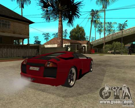 Lamborghini Murcielago SHARK TUNING for GTA San Andreas back left view