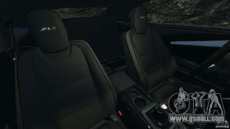 Chevrolet Camaro ZL1 2012 v1.2 for GTA 4 inner view