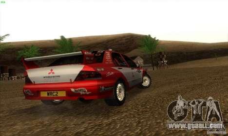 Mitsubishi Lancer Evolution VII for GTA San Andreas back left view