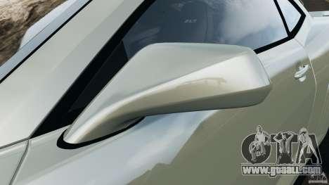 Chevrolet Camaro ZL1 2012 v1.2 for GTA 4 interior
