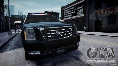 Cadillac Escalade Police V2.0 Final for GTA 4 right view