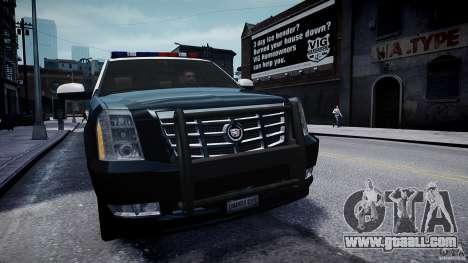 Cadillac Escalade Police V2.0 Final for GTA 4 right view