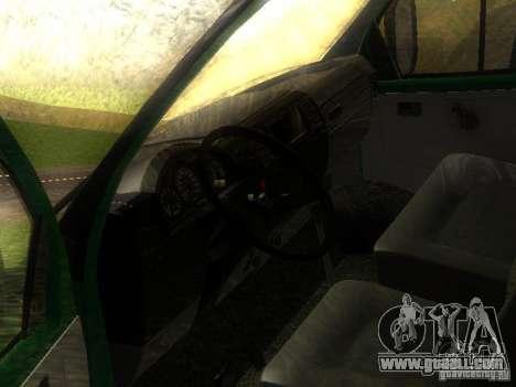 Gazelle 33021 for GTA San Andreas inner view
