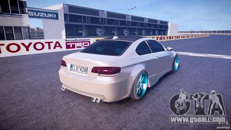 BMW E92 for GTA 4 upper view