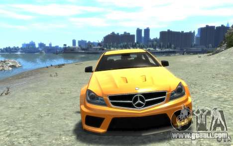 Mercedes-Benz C63 AMG 2012 for GTA 4 inner view