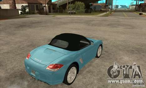 Porsche Boxster S 2010 for GTA San Andreas right view