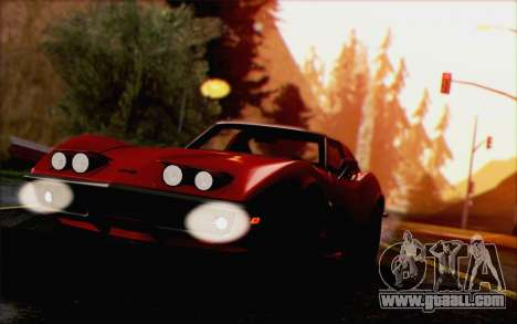 Chevrolet Corvette C3 Stingray T-Top 1969 for GTA San Andreas back view