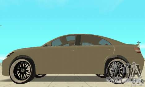 Toyota Camry Tuning 2010 for GTA San Andreas back left view