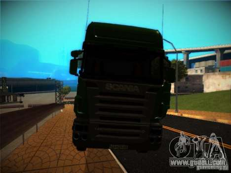 Scania R580 for GTA San Andreas inner view