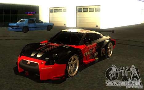 Nissan Skyline R35 GTR for GTA San Andreas wheels