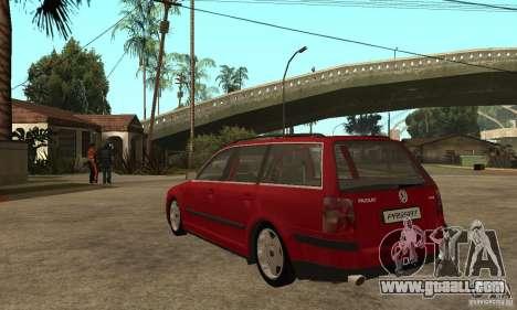 VW Passat B5+ Variant for GTA San Andreas back left view