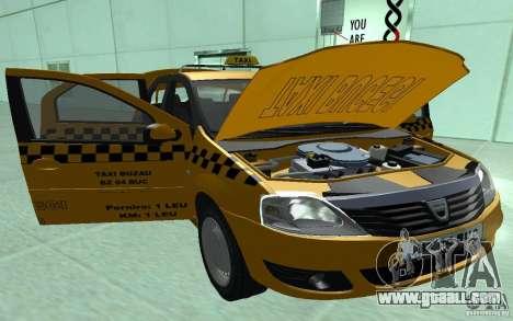 Dacia Logan Taxi Bucegi for GTA San Andreas back view