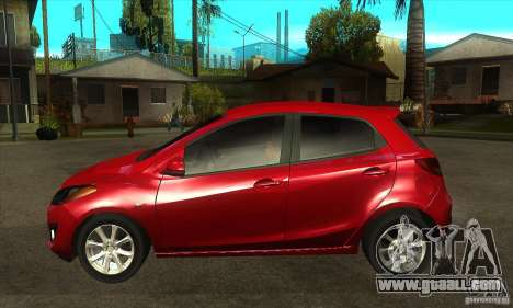 Mazda 2 2011 for GTA San Andreas left view