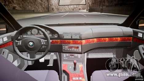 BMW 530I E39 stock white wheels for GTA 4 upper view