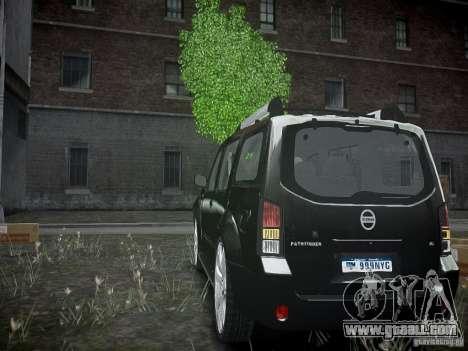 Nissan Pathfinder 2010 for GTA 4 back left view