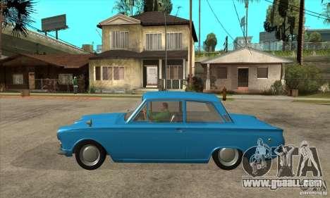 Lotus Cortina Mk1 1963 for GTA San Andreas left view