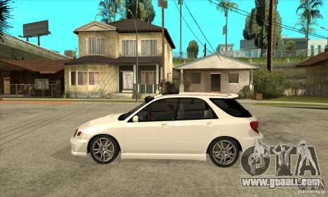Subaru Impreza WRX Wagon 2002 for GTA San Andreas left view