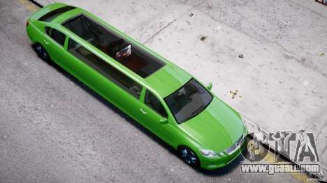 Lexus GS450 2006 Limousine for GTA 4 bottom view