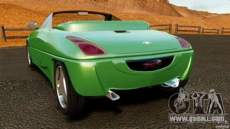 Daewoo Joyster Concept 1997 for GTA 4 back left view