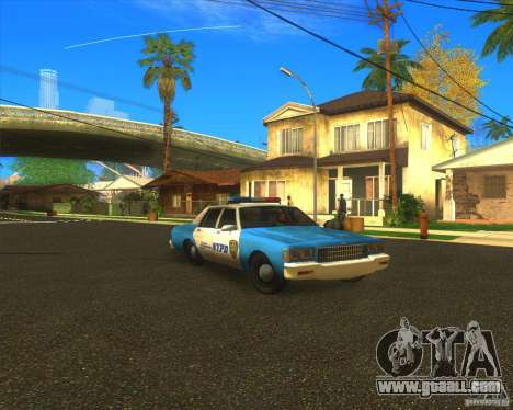 Chevrolet Caprice Classic 1986 NYPD for GTA San Andreas back view