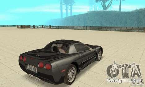 Chevrolet Corvette 5 for GTA San Andreas left view