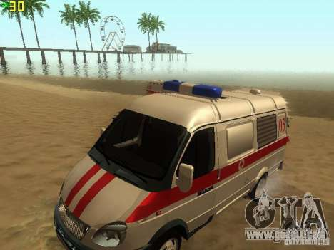 Gazelle 32214 Ambulance for GTA San Andreas right view