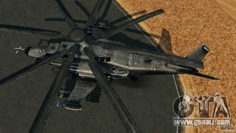 KA-50 Black Shark Modified for GTA 4 right view