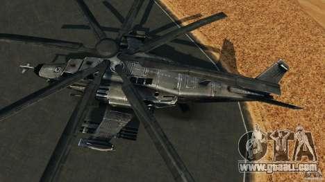 KA-50 Black Shark Modified for GTA 4 right view