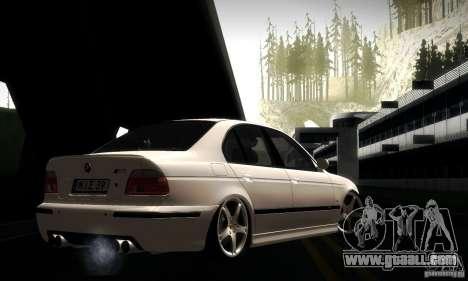 BMW M5 E39 for GTA San Andreas interior