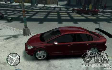 Honda Civic 2006 for GTA 4 left view