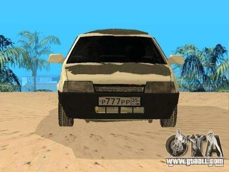VAZ 21099 Winter for GTA San Andreas right view