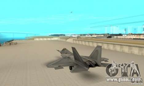 YF-22 Grey for GTA San Andreas back left view