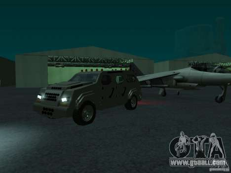 FBI Truck from Fast Five for GTA San Andreas back left view