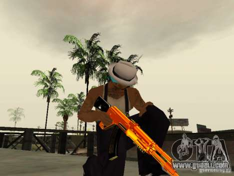 Black and Yellow weapons for GTA San Andreas forth screenshot