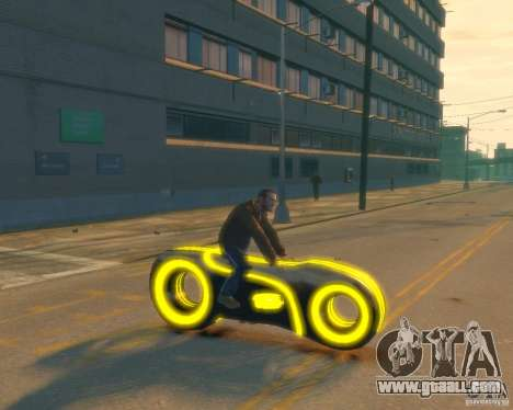 Motorcycle of the Throne (neon yellow) for GTA 4 right view