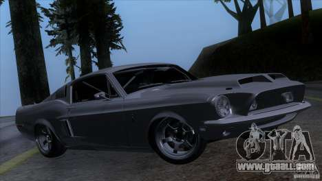 Shelby GT500 1969 for GTA San Andreas back left view