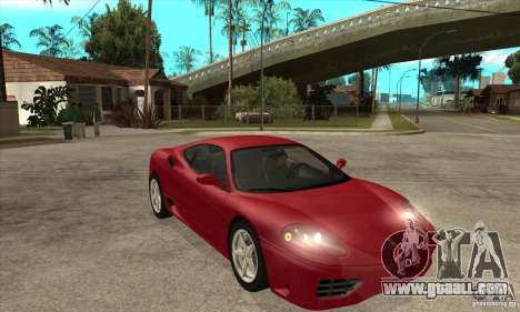 Ferrari 360 Modena for GTA San Andreas back view